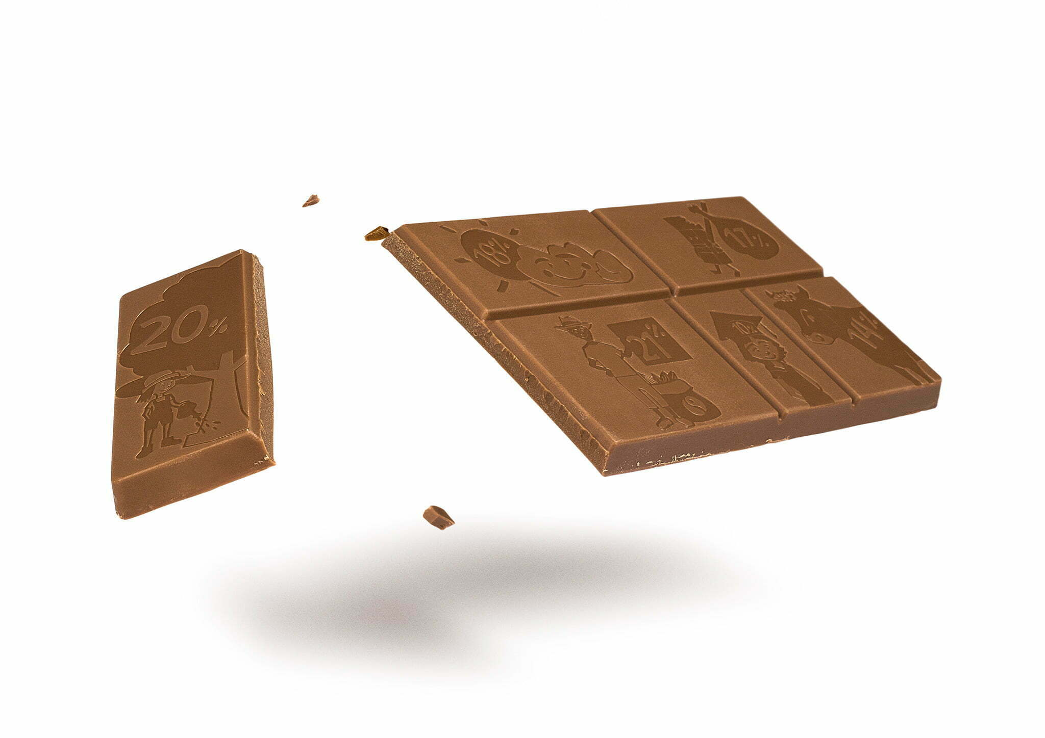 The Change Chocolate with a broken off piece